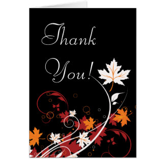 Autumn Leaves Abstract Thank You Note Card
