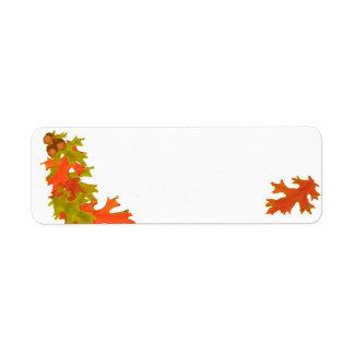 Autumn leaves, address labels