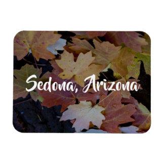 Autumn leaves all around, Sedona Arizona Magnet