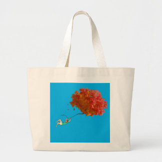 AUTUMN LEAVES AN GIRL by Slipperywindow Large Tote Bag