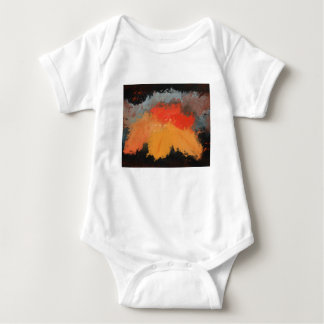 Autumn leaves and birds baby bodysuit