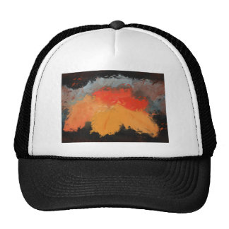 Autumn leaves and birds trucker hat