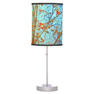 Autumn Leaves and blue Sky Table Lamp