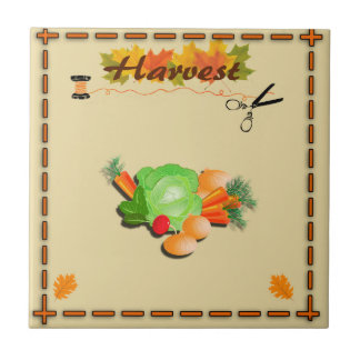 Autumn Leaves and Harvest Ceramic Tile