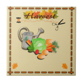 Autumn Leaves and Harvest Ceramic Tiles
