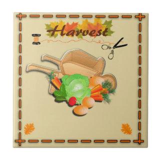 Autumn Leaves and Harvest Ceramic Tiles