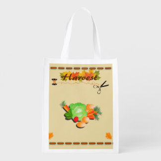 Autumn Leaves and Harvest Grocery Bags