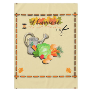 Autumn Leaves and Harvest Tablecloth