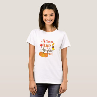 Autumn Leaves and Pumpkin Spice Shirt