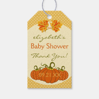 Autumn Leaves and Pumpkins Shower Thank You Gift Tags