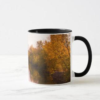 Autumn Leaves and River Photo Mug