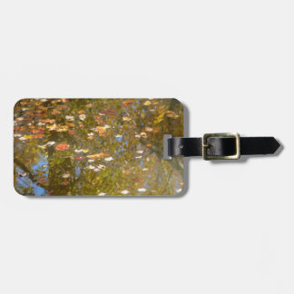 Autumn Leaves and Stream Reflection at Greenbelt Luggage Tag