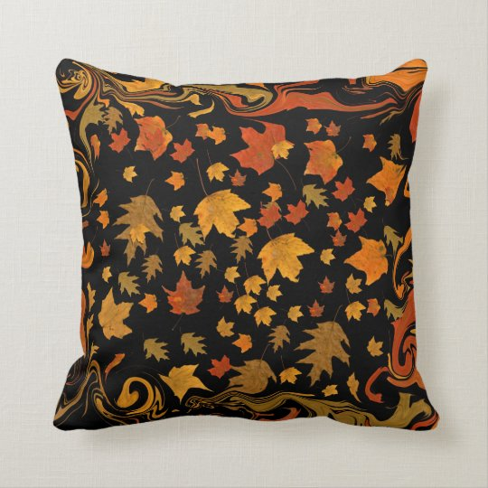 Autumn Leaves Are Falling. Throw Pillow