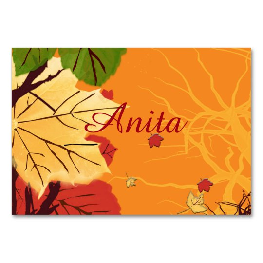 Autumn Leaves At Sunset Card