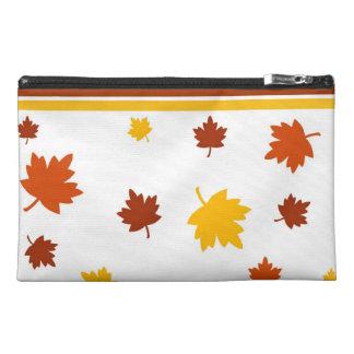 Autumn leaves travel accessories bag