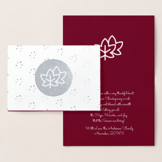 Autumn Leaves & Berries Thanksgiving  Photo Cards