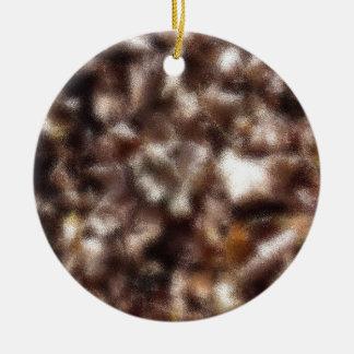 Autumn Leaves - Blurred Round Ceramic Ornament