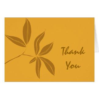 Autumn Leaves Bridesmaid Thank You Card