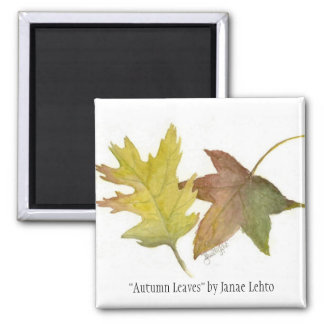 """Autumn Leaves"" by Janae Lehto Magnet"