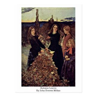 Autumn Leaves By John Everett Millais Postcard