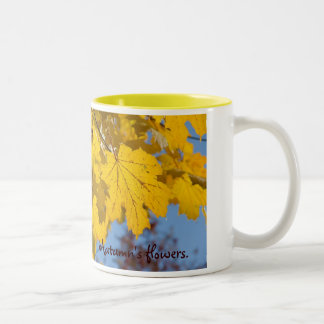 Autumn leaves  by TDGallery Two-Tone Coffee Mug