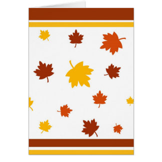 Autumn leaves - Card