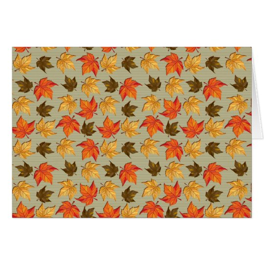 Autumn Leaves Card 1 Card