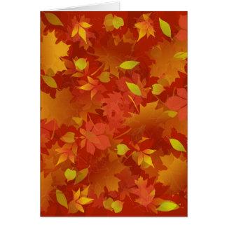 Autumn Leaves Carpet Card