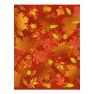 Autumn Leaves Carpet Customized Letterhead