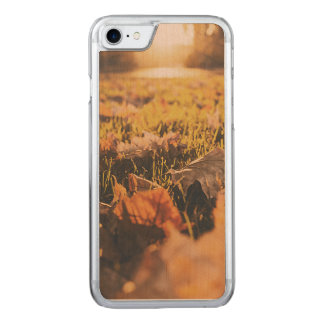 Autumn leaves carved iPhone 7 case