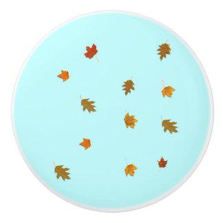 Autumn Leaves Ceramic Knob