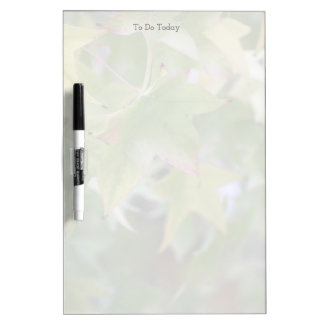 Autumn leaves changing fade dry erase board