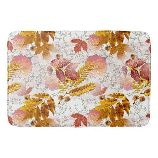 Autumn Leaves & Chrysanthemums #10 Bath Mat
