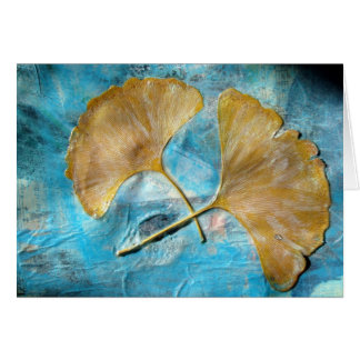 Autumn Leaves Collage Card