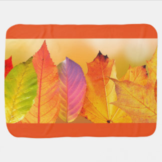 Autumn Leaves Colorful Modern Fine Art Photography Baby Blanket