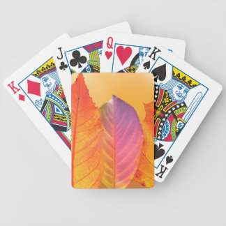 Autumn Leaves Colorful Modern Fine Art Photography Bicycle Playing Cards