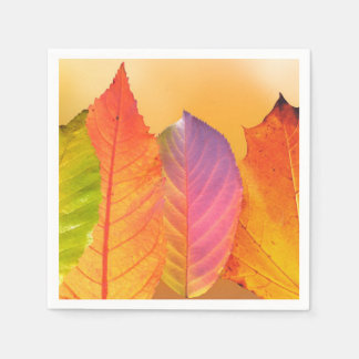 Autumn Leaves Colorful Modern Fine Art Photography Disposable Napkin