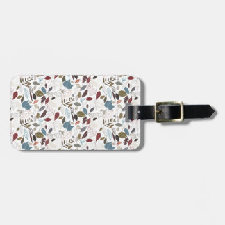 Autumn leaves cool breeze luggage tag