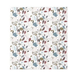 Autumn leaves cool breeze notepad