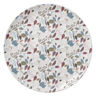 Autumn leaves cool breeze plate