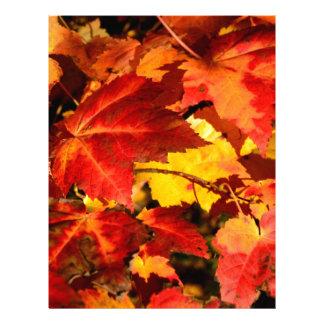 Autumn leaves custom letterhead