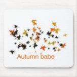 Autumn Leaves cute design! Mousepad