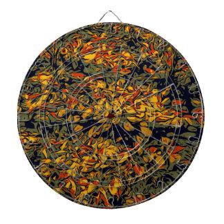 Autumn leaves dartboard