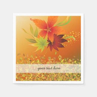 Autumn leaves disposable napkin
