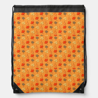 Autumn Leaves Drawstring Backpack
