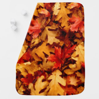 Autumn Leaves - Fall Color Baby Blanket