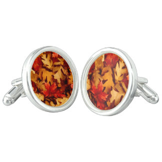 Autumn Leaves - Fall Color Cuff Links