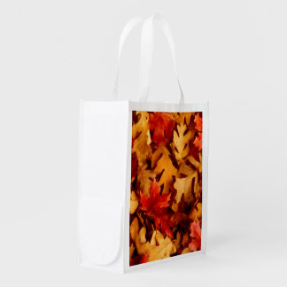 Autumn Leaves - Fall Color Reusable Grocery Bags