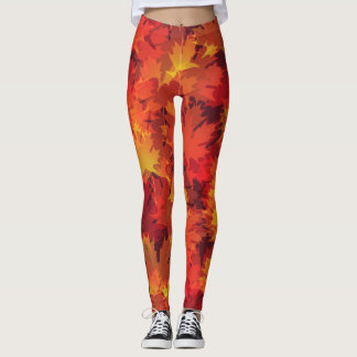 Autumn Leaves Fall Design Leggings