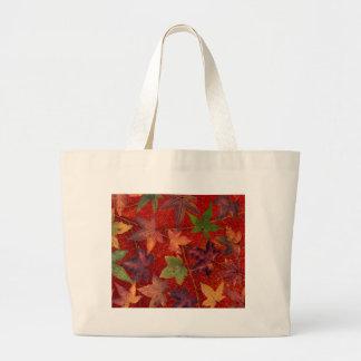 Autumn Leaves Fall Season Tree Leaf Colorful Large Tote Bag